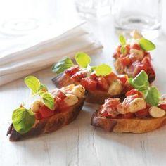 Bruschetta med soltørrede tomater