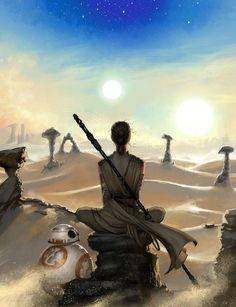 Rey anb BB-8 by Sonia Matas