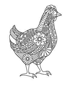 Owl Coloring Pages, Adult Coloring, Coloring Books, Owl Bird, Pet Birds, Zentangle Drawings, Zentangles, Fingerprint Art, Farm Art