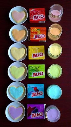 DIY by just stirring some jello into your frosting. It will change thecolor and flavor...(from recipes with love)