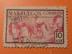 Marruecos protectorado español 1952. Caballos de respeto. 10 cts - Foto 1