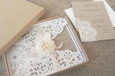 Doily Invitations / Wedding Style Inspiration / LANE