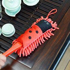 Detachable Animal Fiber Microfiber Duster Cute Cartoon Dust Brush Water Absorption Cleaning Computer Brush