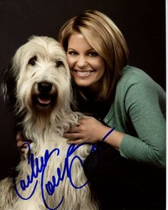 """Candace Cameron Bure stars with furry friend Bug Z in """"Puppy Love,"""" a Hallmark Channel Original Movie. Hallmark Channel's Pet Project is an evergreen initiative to save the lives of Homeless Pets through adoption. Candace Cameron Bure, Candice Cameron, Hallmark Channel, Make Up Braut, Old English Sheepdog, Animal Projects, Love Stars, Celebs, Celebrities"""