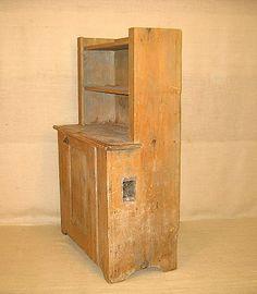 Primitive furniture. Stepback Cupboard. : Lot 450