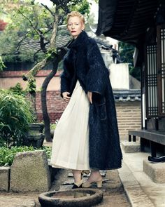 Tilda Swinton by Hong Jang Hyun for Vogue Korea August 2015 - CHANEL