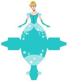 Cinderella - Free Printable Disney Princess Box/////Para aniversário com motivo princesa.//////For birthday with Princess motif.