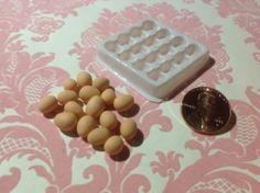Dollhouse Miniature Food Handmade 16 Pcs Tiny Eggs Plastic Holder USA | eBay $2.99 Miniature Kitchen, Miniature Food, Barbie Food, Egg Holder, Tiny Food, Miniture Things, New Hobbies, Dollhouse Miniatures, Eggs
