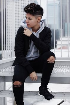 Androgynous Outfit Ideas Gallery amanda m cold cranky tomboy outfits lesbian outfits Androgynous Outfit Ideas. Here is Androgynous Outfit Ideas Gallery for you. Androgynous Outfit Ideas outfit with androgynous chicisimo. Androgynous Fashion Tomboy, Butch Fashion, Queer Fashion, Look Fashion, Fashion Outfits, Androgynous Girls, Androgynous Clothing, Butch Lesbian Fashion, Androgyny