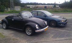 '72 VW beetle and '00 Mitsubishi galant