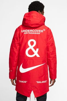 UNDERCOVER and Nike Debut Bold Collection: A new React Boot silhouette, multiple Air Max and a full set of apparel. Nike Winter Jackets, Rain Jackets, Pyjamas, Fishtail Parka, Pull Sweat, Sports Graphic Design, Moda Paris, Latest Sneakers, Nike Acg