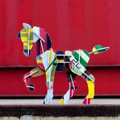 Totem Horse by Studio Roof Shed Roof, House Roof, Fibreglass Roof, Steel Roofing, Tin Roofing, Roofing Shingles, Modern Roofing, Living Roofs, Eco Friendly Toys