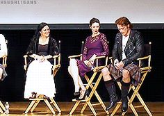 """(gif) - Fan: """"Will we be seeing anyone in their birthday suits?"""" Sam: """"I think the front row already saw!"""""""