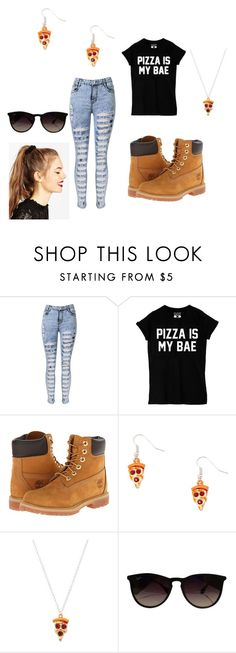 """""""Pizza"""" by sara-melgar on Polyvore featuring Timberland, Ray-Ban and ASOS"""