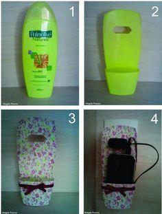 O que você faz com frascos vazios de shampoo? - Artesanato