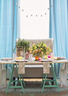Colorful Easter dining