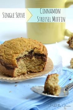 Single Serve Cinnamon Streusel Muffin by @holdthegrain holdthegrain.com #paleo