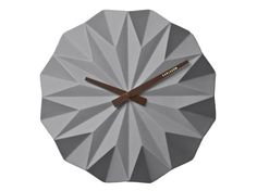 OUTLET - Karlsson :: Zegar ścienny Origami Ceramic Matt Grey