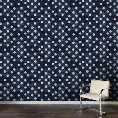 Indigo Dots Wallpaper