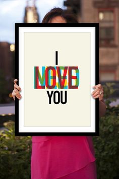 """Love Art Print """"I Need Love Miss You"""" Full Color Typographic Art Print Wall Decor Poster on Etsy, $12.00"""