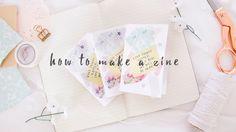 how to make a zine - YouTube