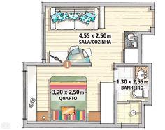 Marcenaria sob medida faz milagre em apartamento de apenas 25 m² - Casa