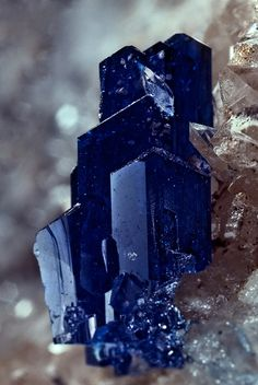 Linarite / Grand Reef Mine, Graham County, Arizona         via Amanda Hayek