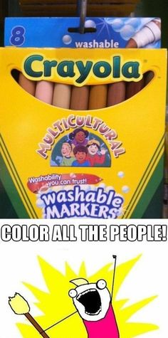 This would have made elementary so much easier! I hated coloring people yellow, it seemed so unnatural.