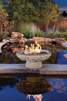 Helios Firepit | Stone Forest | Outdoor Living | Exterior Decor