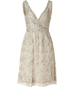 Collette Dinnigan Antique Silver Sequin Dress. WOW.
