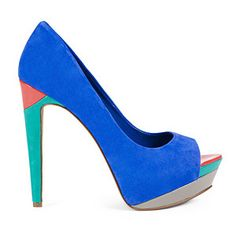 Rocking the Colorblock Shoe Trend for spring.