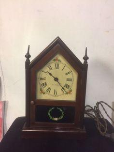 Antique Seth Thomas Steeple Clock.Runs.Mahogany Frame.C12Pix4Size/etc.MAKE OFFER