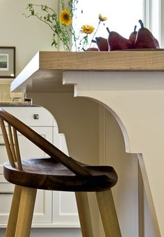 Good lines!  Kitchen Island detail traditional kitchen