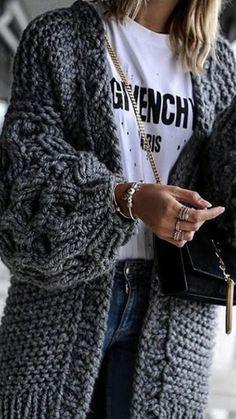 Damen Strickjacke Pullover Pulli Jacke Oversize Boho Frühling Cardigan Lose Oberteil Damen Lang Mantel Jacke Cardigan Blazer S M L XL Mode Outfits, Winter Outfits, Summer Outfits, Fashion Outfits, Cute Casual Outfits, Summer Dresses, Fashion Ideas, Winter Cardigan, Sweater Weather