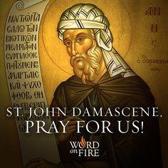 St. John Damascene, pray for us!