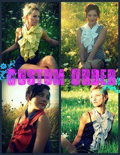 Custom fabric Ruffle bow scarf  The original ruffle por nikkisic