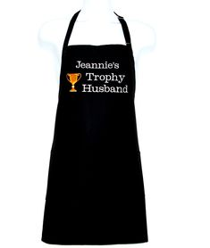 Trophy Husband, Man Apron, Funny BBQ Chef Cooking Grill, Custom Birthday Gift, Groom Shower, Personalize With Name, Ships TODAY, AGFT 095 Man Apron, Creative Gifts, Creative Ideas, Gifts For Golfers, Aprons For Men, Cooking On The Grill, Etsy Business, Sewing Studio, Birthday Gifts