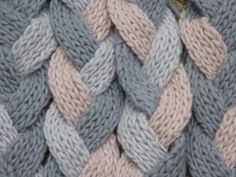 """""""Cheapskate Scarf"""" - Braided Knitted Scarf pattern"""