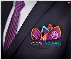 Buy #PocketSquare OROPSQ4 which is elegantly designed #polyester pocket square for men bears a smooth black background with the white D:3 logo printed on it at lowest prices from #CubiShop