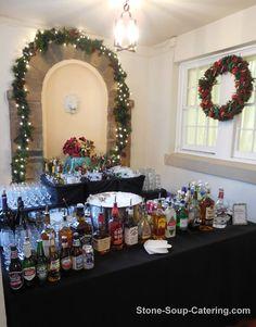 Indoor Bar Set Up at Glenview Mansion