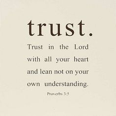 @Chenell Reynecke Cypert, made me think of you. TRUST in the Lord with all your heart.