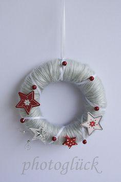Weihnachtskranz Fensterschmuck Türschmuck von PHOTOGLÜCK auf DaWanda.com