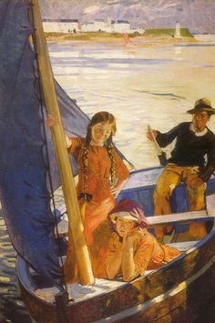 The Blue Sail by Lucien Simon [French, 1861-1945]
