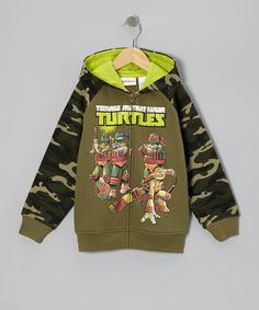 Take a look at this Olive & Camo TMNT Zip-Up Hoodie - Boys by Teenage Mutant Ninja Turtles on #zulily today!