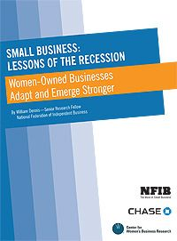 Women-Owned Businesses: Lessons from the Recession by NFIB and Chase