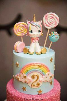 Unicorn cake I like the cake with sprinkles Pastel de unicornio Me gusta el pastel con chispas. Unicorne Cake, Cupcake Cakes, Macaron Cake, Cake Fondant, Cake Smash, Rainbow Birthday, Birthday Cake Girls, Unicorn Rainbow Cake, Unicorn Party