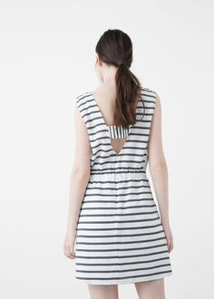 Vestido algodón rayas | MNG