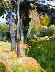 "bofransson:  "" The Large Trees  Paul Gauguin - 1889  """
