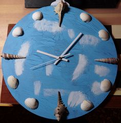 Zooid XL: Clock with Seashells (large)