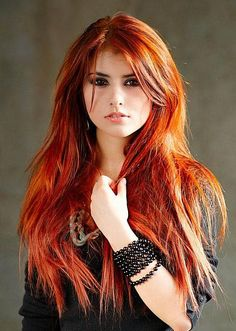 Red Hair - The latest trends in women's hairstyles and beauty